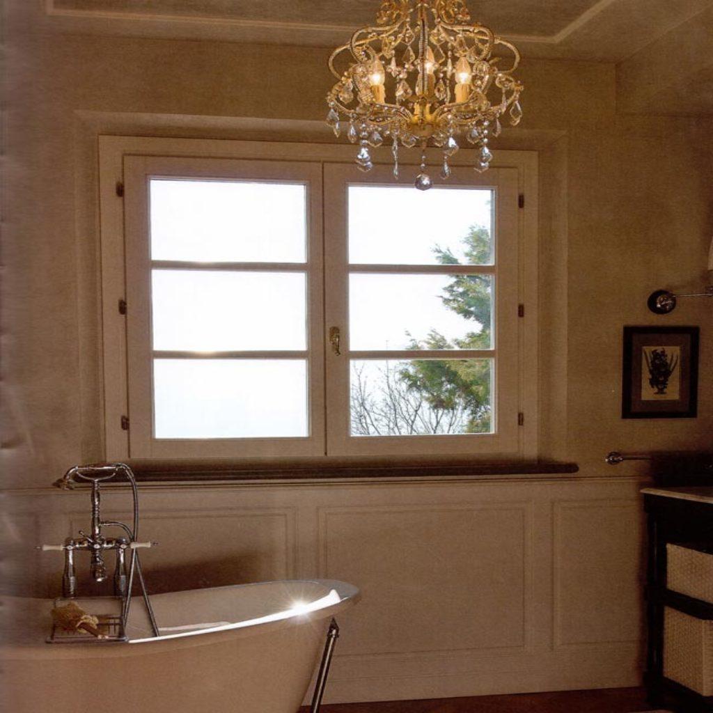 Infisso finestra due ante con inglesine orizzontali - Finestra a due ante ...