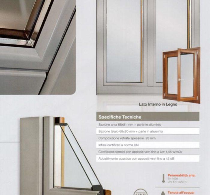 Serramento in legno alluminio antirumore mdb portas nurith for Mdb portas nurith