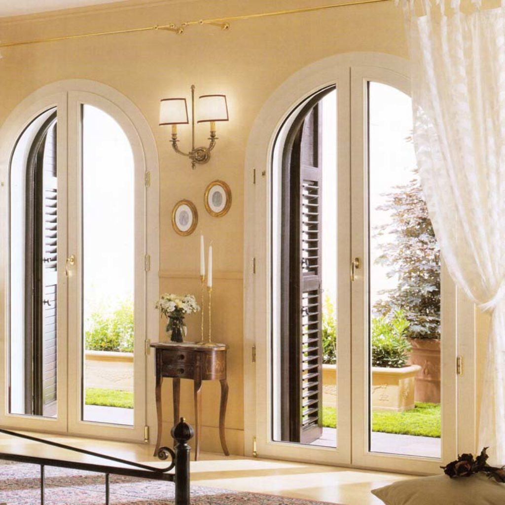 Finestra porta finestra ad arco ad arese mdb portas nurith - Finestre pvc milano ...