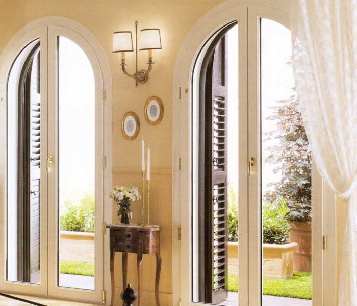 Finestra porta finestra ad arco ad arese mdb portas nurith - Porte finestre milano ...