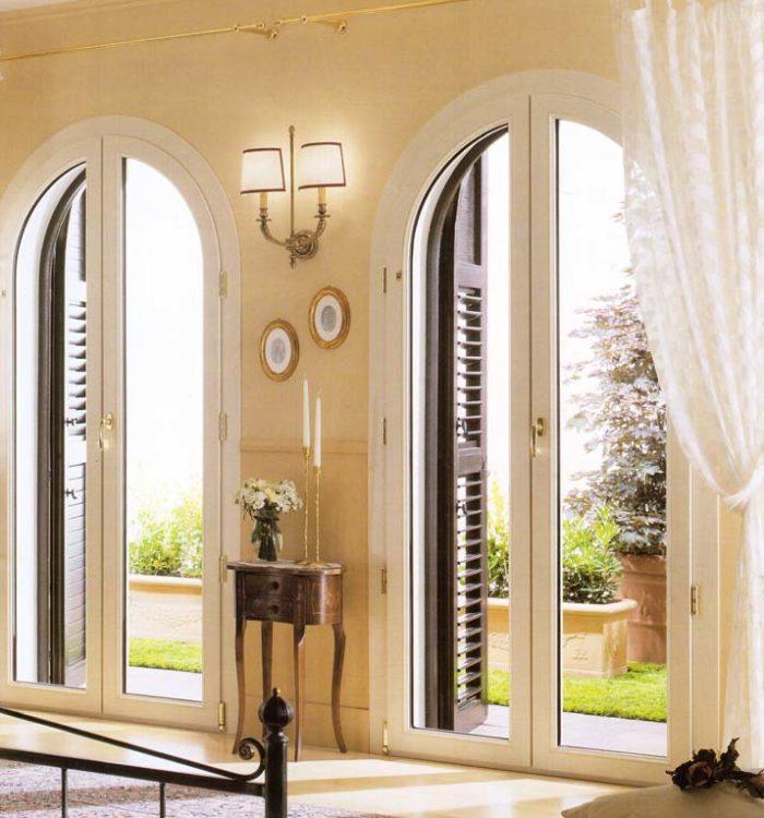 Porte finestre in pvc bianco ad arco mdb portas nurith - Finestre ad arco prezzi ...
