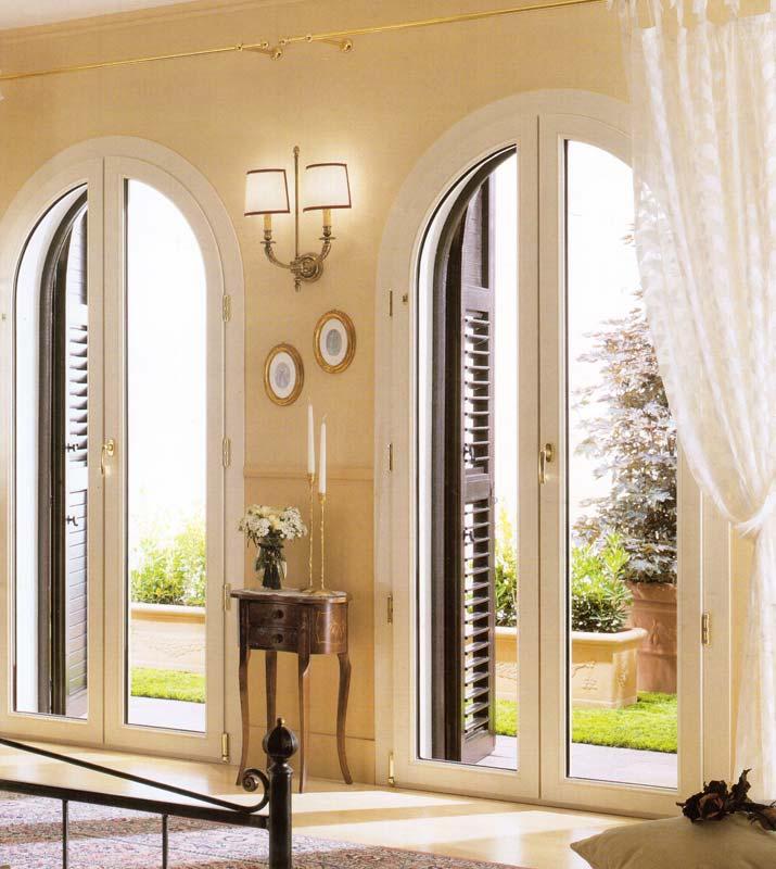 Finestra porta finestra ad arco ad arese mdb portas nurith - Porte e finestre in legno prezzi ...