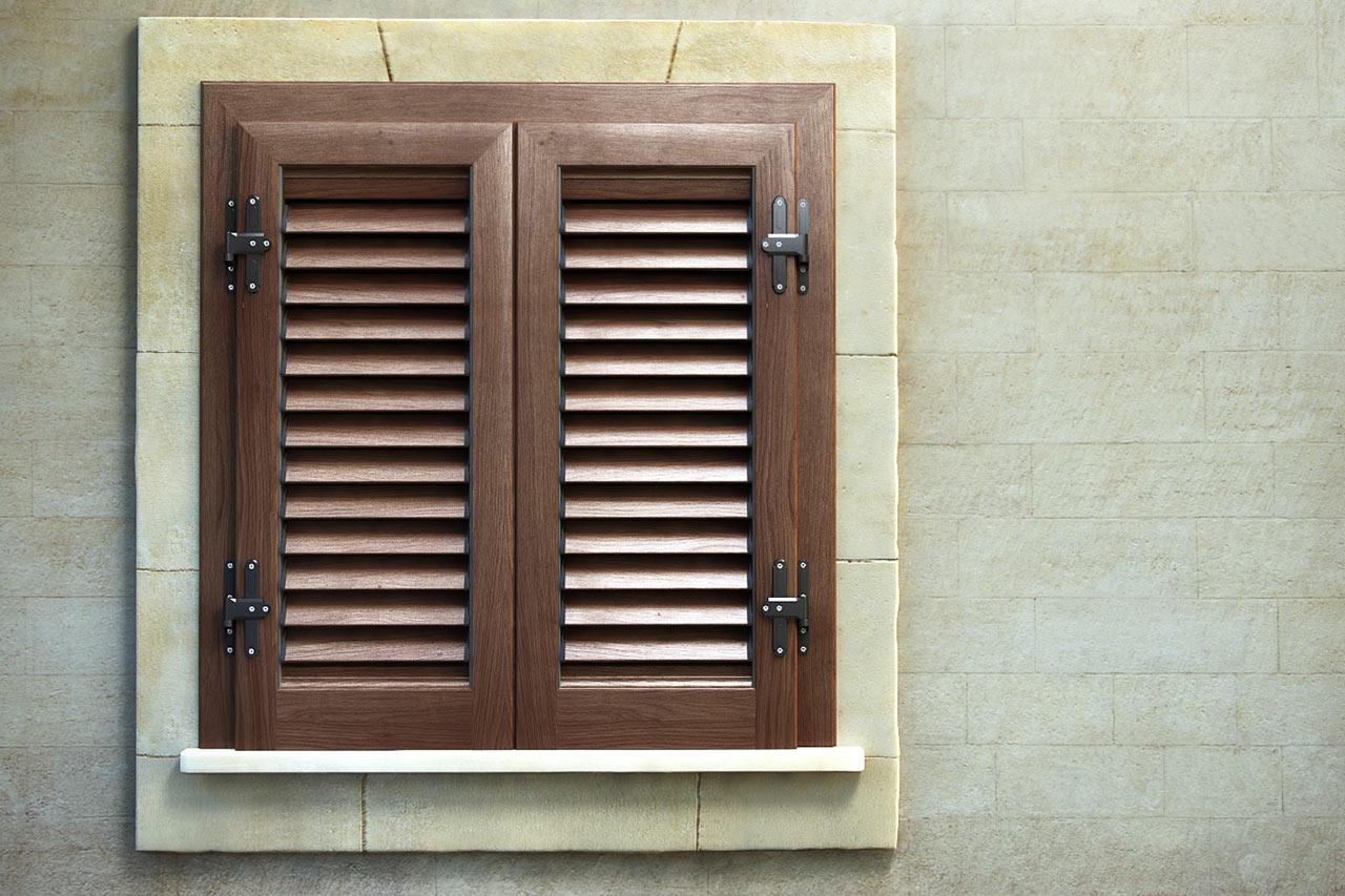 Persiana con telaio alluminio effetto legno mdb portas nurith - Persiane con telaio ...
