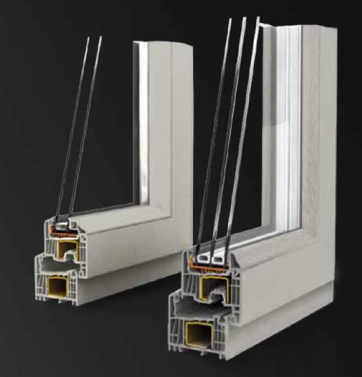 Serramenti pvc blonde platine e persiane in alluminio a - Finestre triplo vetro ...