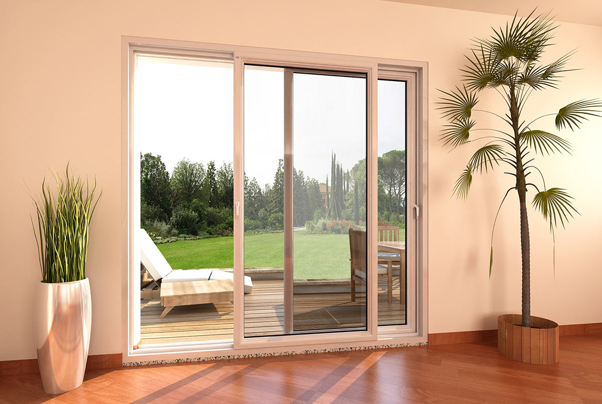 Porta finestra in pvc scorrevole parallelo mdb nurith portas - Finestre pvc milano ...
