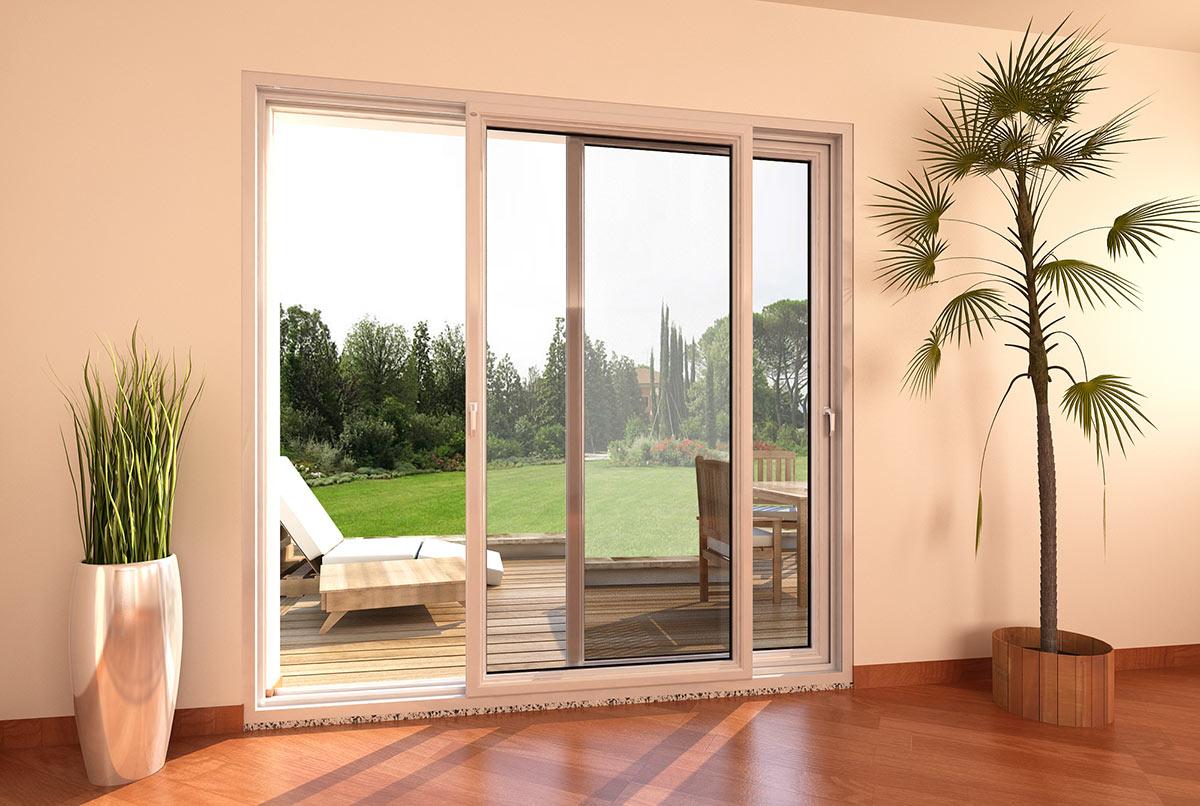 Porta finestra in pvc scorrevole parallelo mdb nurith portas - Porta finestra scorrevole ...