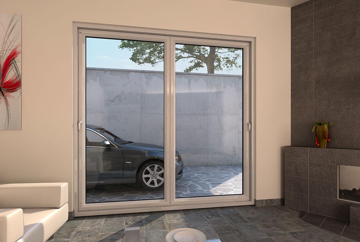 Porte finestre in pvc scorrevoli a libro a pioltello milano for Porte scorrevoli pvc