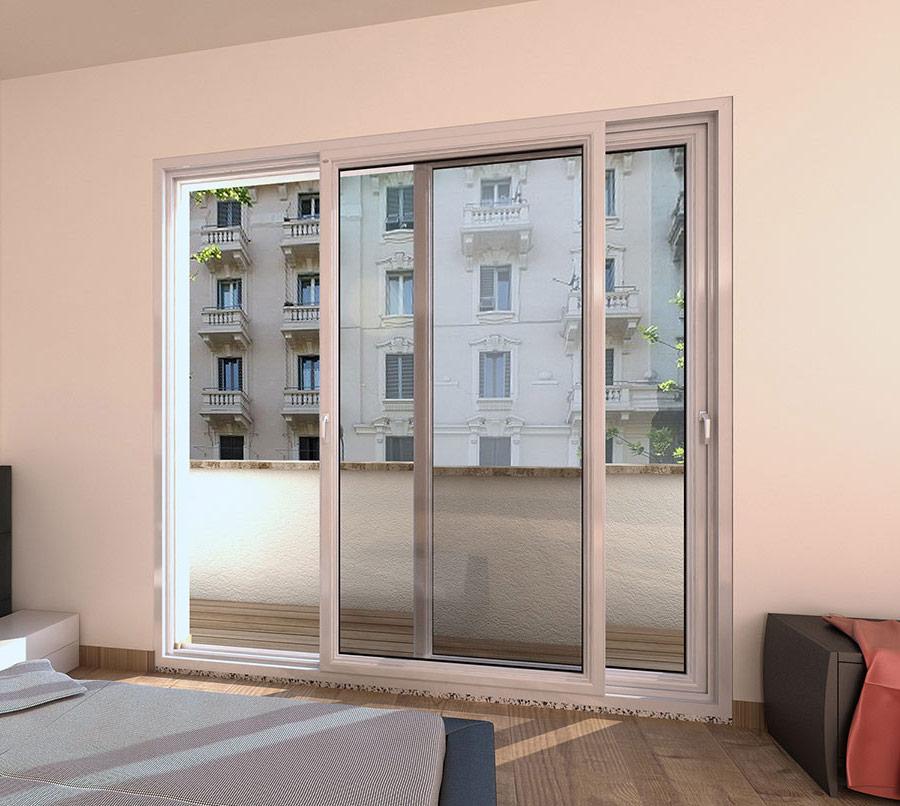 3 finestre e 3 porte finestre a milano quartiere isola - Porta finestra scorrevole ...