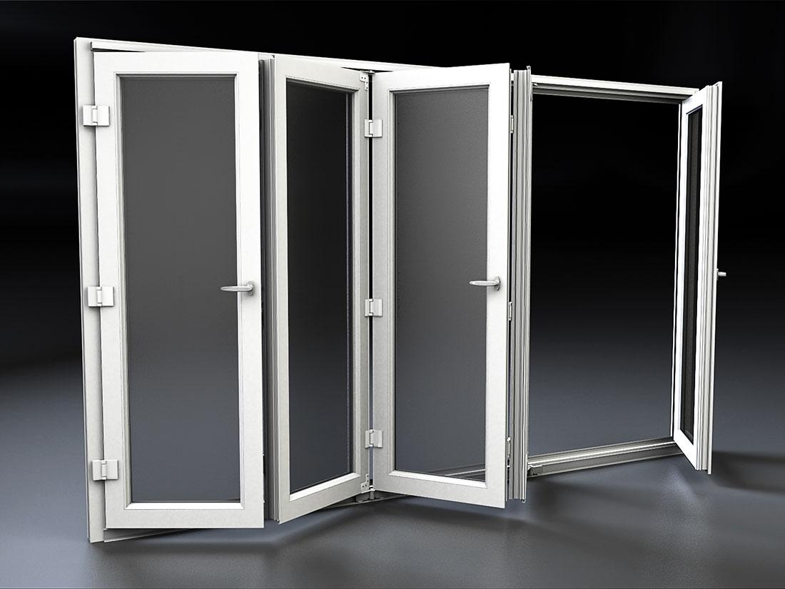 Porta finestra scorrevole a libro in pvc mdb portas nurith for Mdb portas nurith