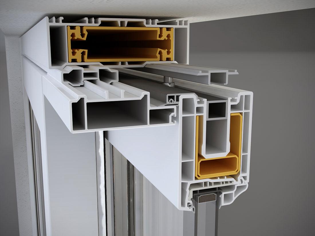 portafinestra pvc scorrevole alzante chiusura superiore