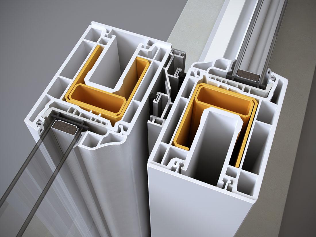 portafinestra scorrevole alzante chiusura centrale