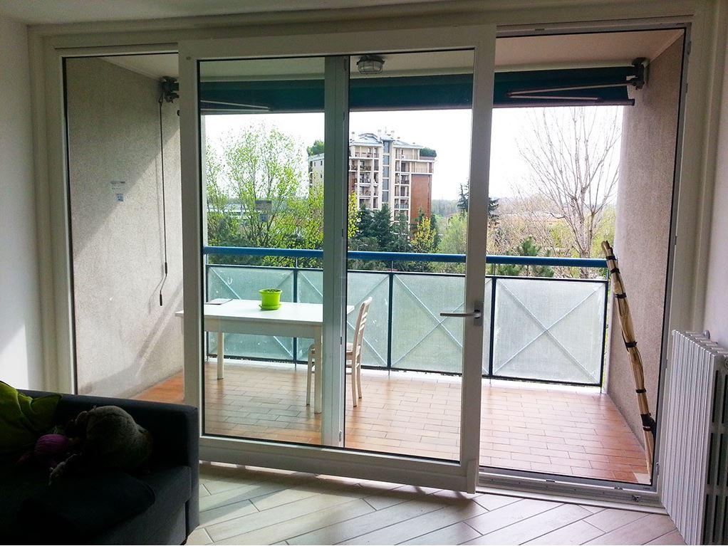 Porte finestre scorrevoli pvc bianca bovisasca milano - Finestre pvc milano ...