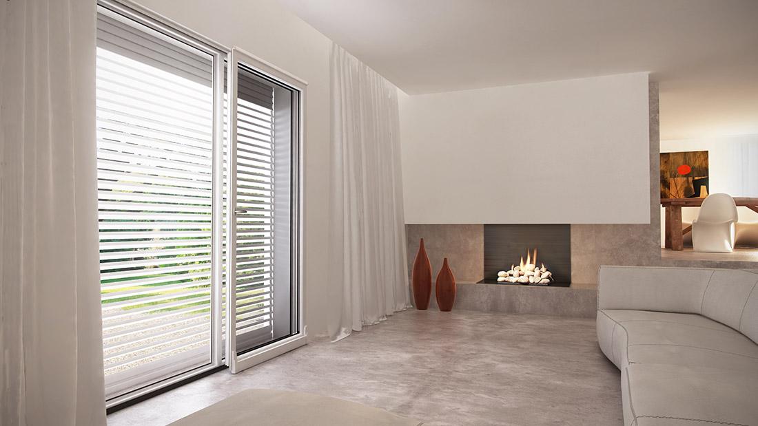 Vendita e posa di porte finestre in pvc da mdb nurith milano for Finestre pvc bianche