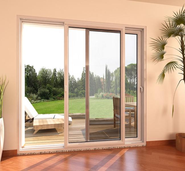 Porta finestra in pvc scorrevole parallelo mdb nurith portas for Porta finestra pvc