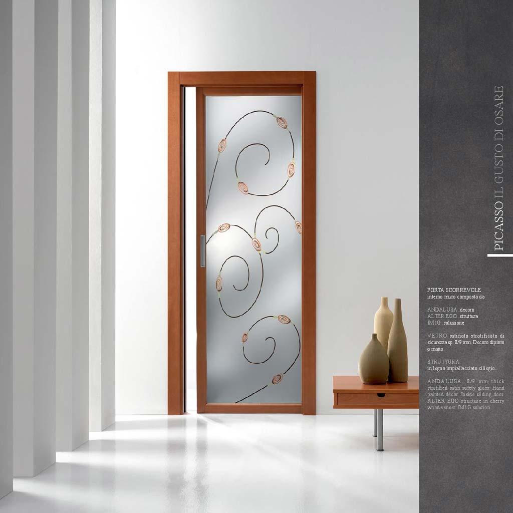 Porte interne in legno in vetro scorrevoli a milano monza mdb portas nurith - Costo porta a scrigno ...