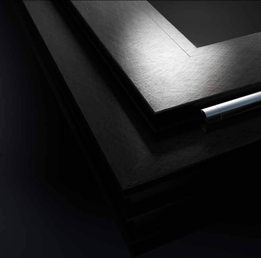 serramento pvc nurith black soul dettaglio finestra
